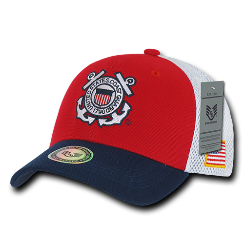 U.S. Coast Guard Deluxe Mesh Military Caps