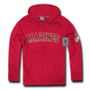 Marines - Full Zip Fleece Military Hoodies, Cardinal