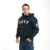 NAVY - Full Zip Fleece Military Hoodies