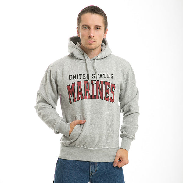 US Marines - Grey Military Pullover Hoodies