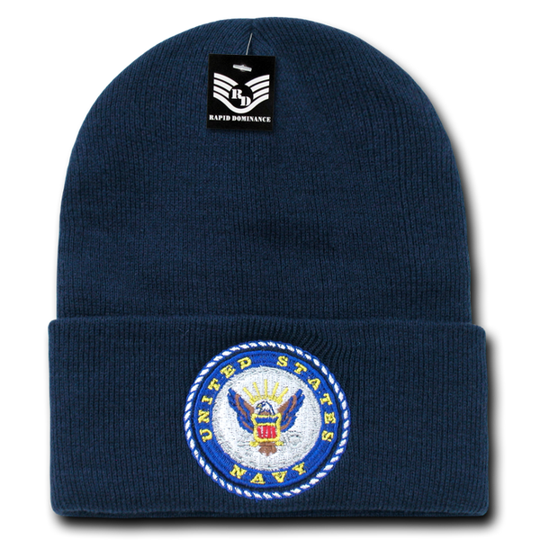 U.S. Navy Emb Military Long Beanies