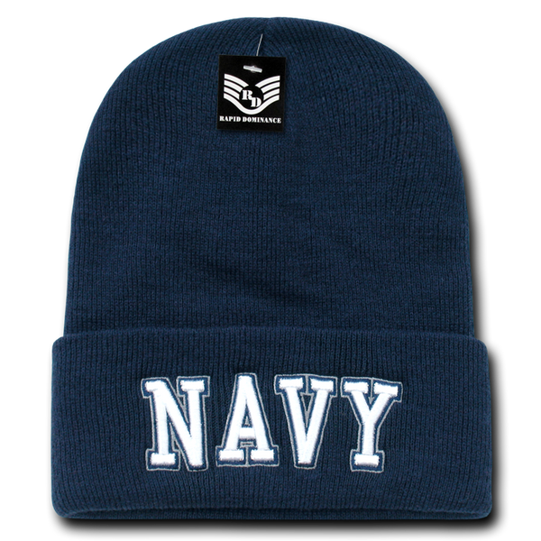 U.S. Navy Text Military Long Beanies