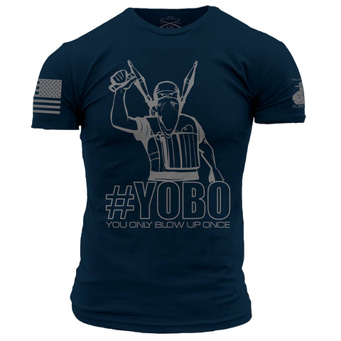 Grunt Style Printed & Squared Away Approved YOBO T-Shirt front