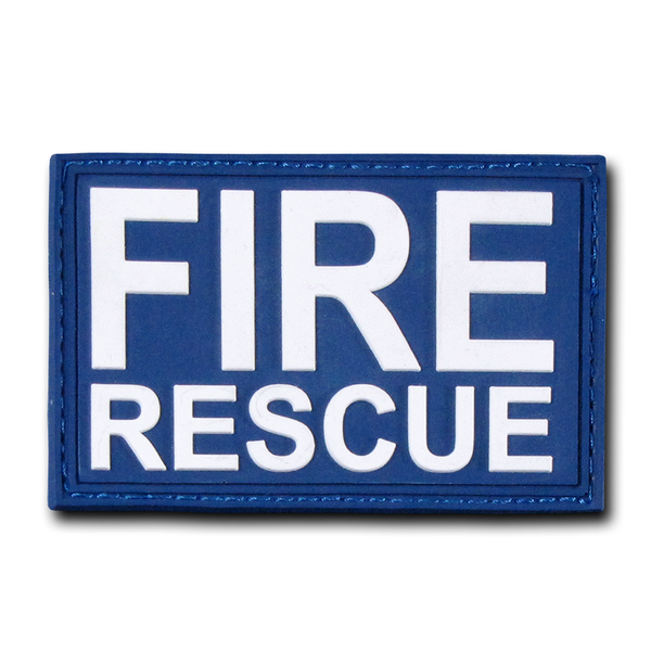 "Fire Rescue Rubber Patch (3""x2"")"