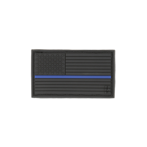 USA Flag Patch Small Thin Blue Line Police Patch