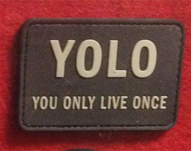 DDT Yolo Rubber Velcro Patch