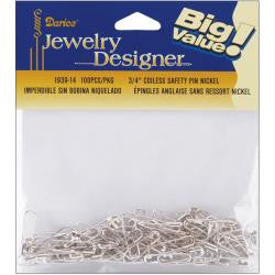 Darice Coil-less Gold Safety Pins - Happy Ewe - 1