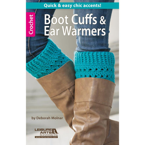 LEISURE ARTS-Boot Cuffs & Ear Warmers - Happy Ewe