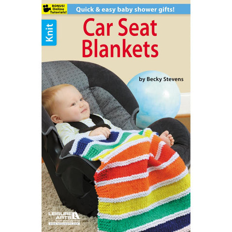 LEISURE ARTS-Knit Car Seat Blankets. - Happy Ewe