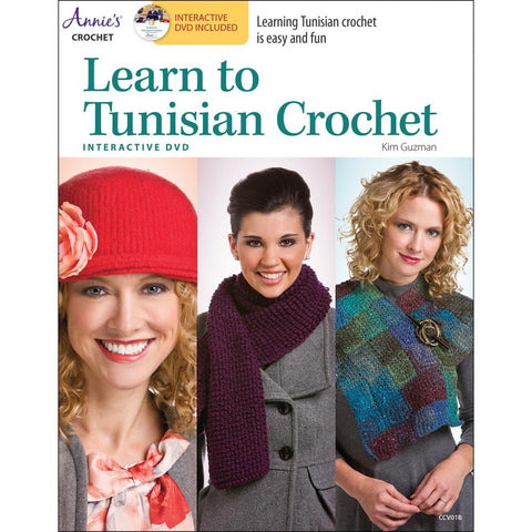 Annie's Books Learn To Tunisian Crochet - Happy Ewe