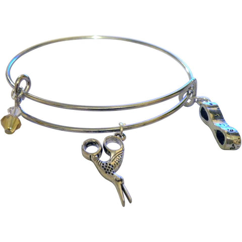 Charming Accents Adjustable Charm Bangles
