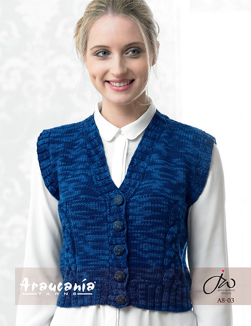 Araucania Yarns Cable Vest Pattern A8-03