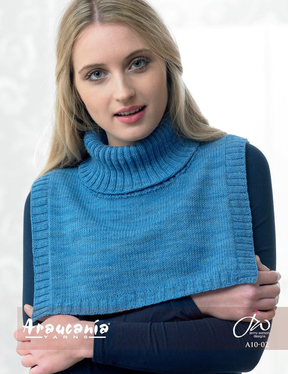 Araucania Yarns Huasco - Polo-Necked Shoulder Wrap - E-A10-02 - Happy Ewe