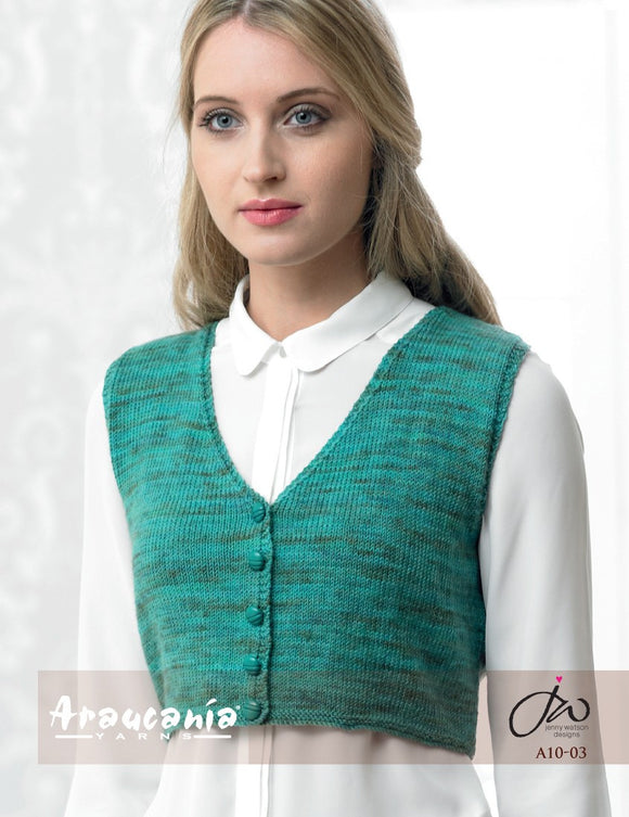 Araucania Yarns Huasco - Fitted Waistcoat with Razor Back - Happy Ewe
