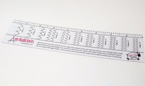 Ann Budd Knits Handy Gauge Ruler - Happy Ewe