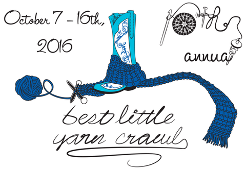 2016 Hill Country Yarn Crawl Oct 7-16 Stampcard ONLY - Happy Ewe - 1