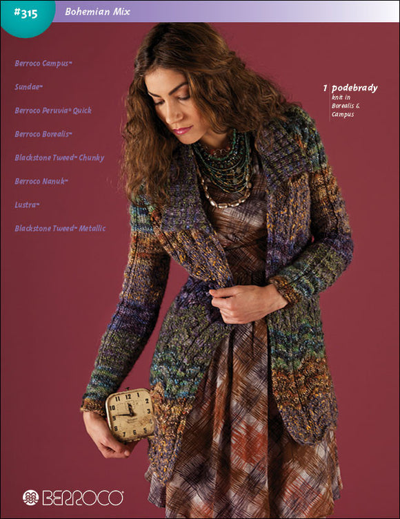 Berroco Bohemian Mix Pattern #315 - Happy Ewe - 1