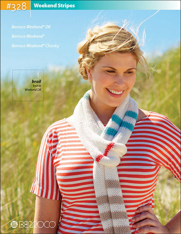 Berroco Weekend Stripes Pattern #328 - Happy Ewe - 1