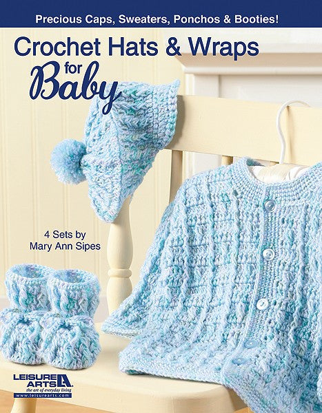 Leisure Arts Crocheted Hats & Wraps for Baby - Happy Ewe - 1