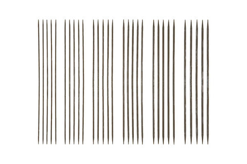 "Knit Picks 6"" Nickel Plated Double Pointed Knitting Needle Set - Happy Ewe"