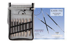 Knitter's Pride Karbonz Interchangeable Circular Needle Starter Set - Happy Ewe
