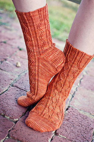 Two-Horse Hitch Socks Pattern