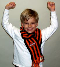 The Sassy Skein Biker Boy Scarf - Happy Ewe