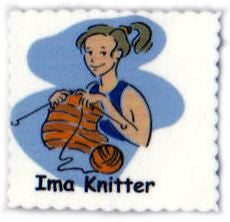 "Cedar Creek Quilt Design Pin - ""Ima Knitter"" - Happy Ewe"