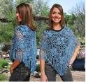 Crochet Guild of America Flower Poncho 024 - Happy Ewe
