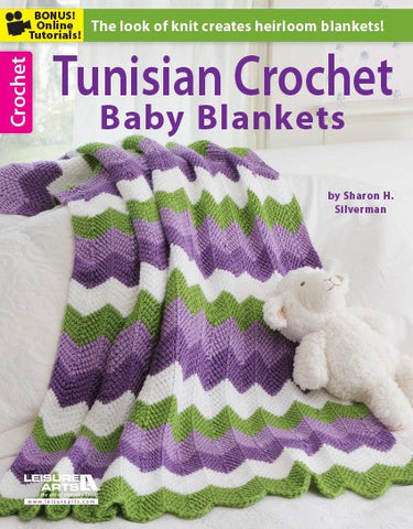 Leisure Arts Tunisian Crochet Baby Blankets - Happy Ewe - 1