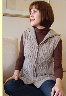 Dovetail Designs Sleeveless Cable Hoodie K2.44 - Happy Ewe