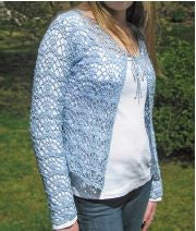 Hooked for Lif Cambered Lace Cardigan Pattern - Happy Ewe