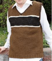 Hooked for Life Tunisian Men's Vest HL11-001 - Happy Ewe