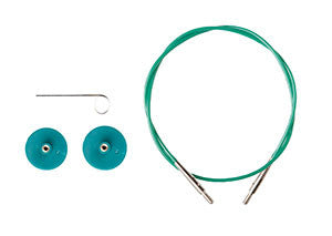 Knit Picks Options Interchangeable Circular Knitting Needle Cables - Green single pack - Happy Ewe