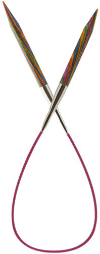 Knit Picks Rainbow Wood Fixed Circular Knitting Needles - Happy Ewe