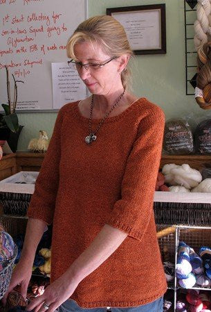 Knitting Pure & Simple Top Down Swing Pullover KPS115 - Happy Ewe