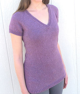 Knitting Pure & Simple V Neck Pullover - Happy Ewe
