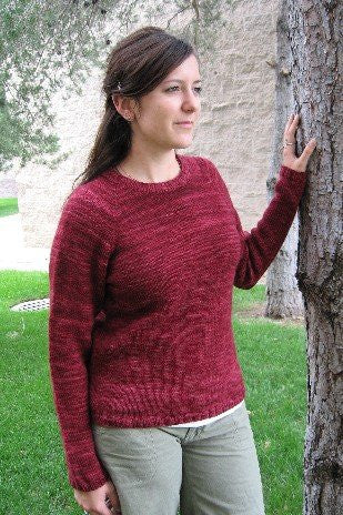 Knitting Pure & Simple Neck Down Medium Weight Pullover - KPS265 - Happy Ewe