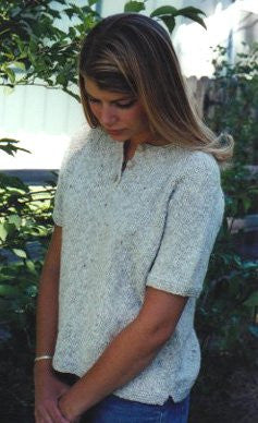 Knitting Pure & Simple Henley T-Shirt KPS9727 - Happy Ewe