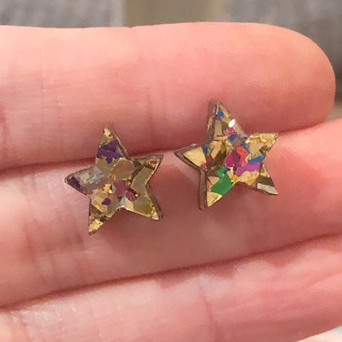 Superstar Tiny Stud Earrings Earrings – Gold Mix