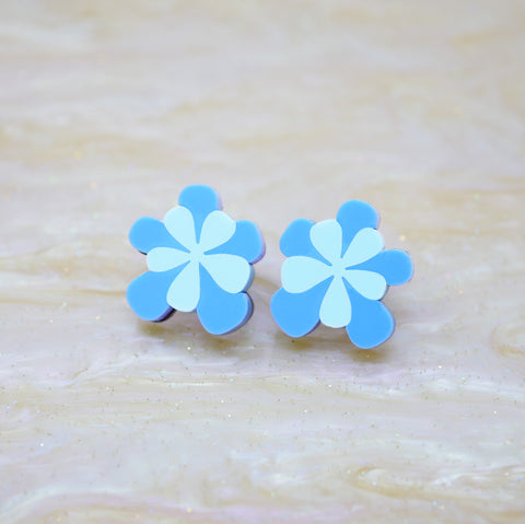 Bloomin' Marvellous Stud Earrings – Cornflower