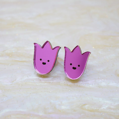 Bloomin' Marvellous Stud Earrings – Tulip