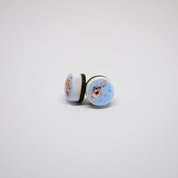 Scatter Dot Earrings – Powder Blue