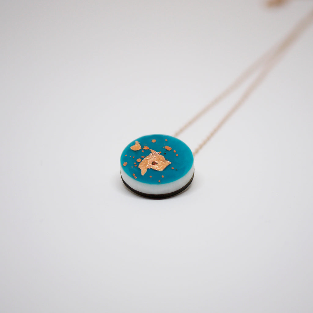 SPARK Dot Scatter Necklace – Turquoise