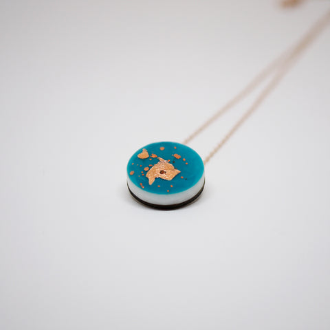 Scatter Dot Necklace – Turquoise