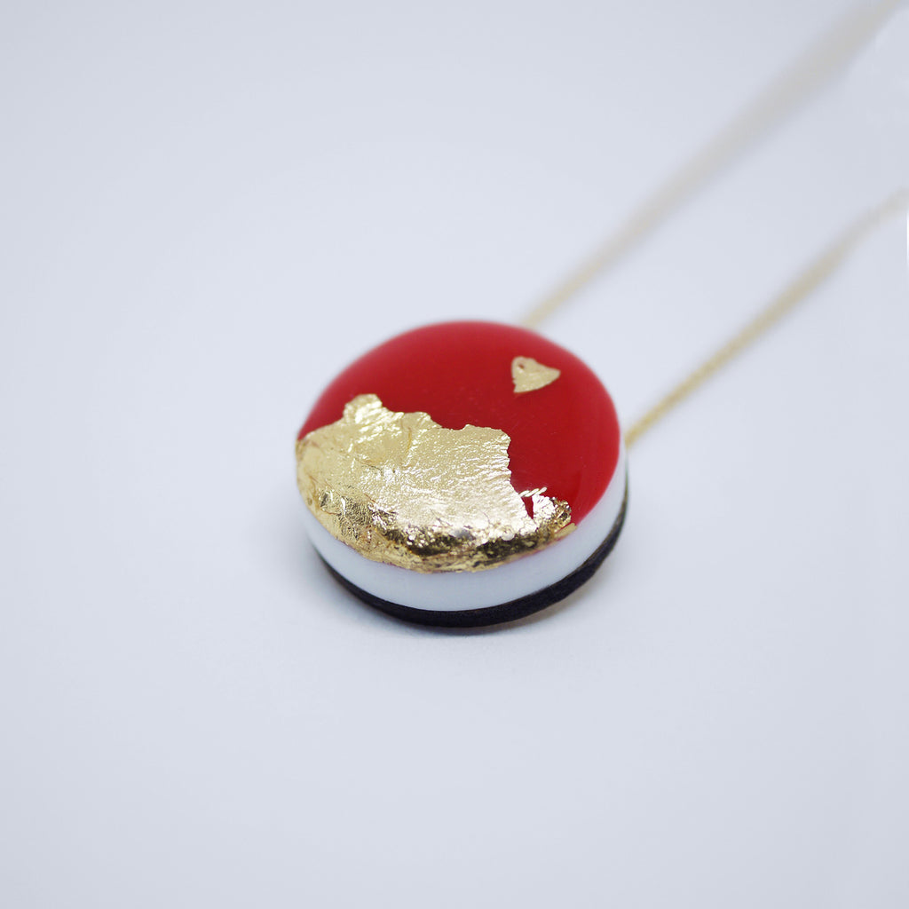 ART Dot Necklace/Red