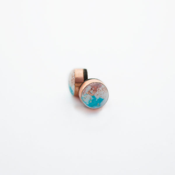 FLUX Dot Stud Earrings/Turquoise