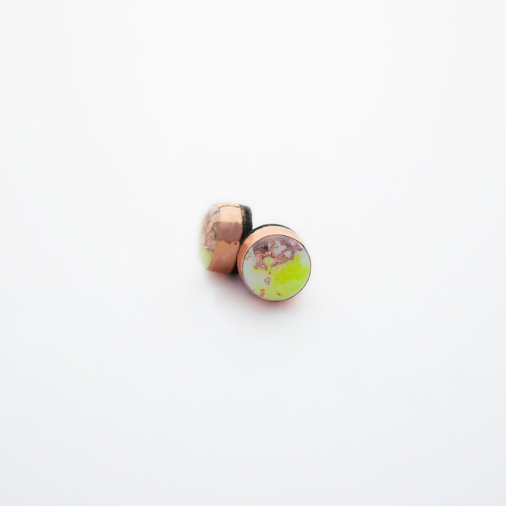 FLUX Dot Stud Earrings/Neon Yellow