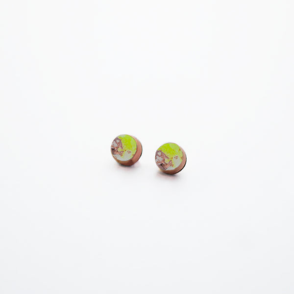FLUX Mini Stud Earrings/Neon Yellow