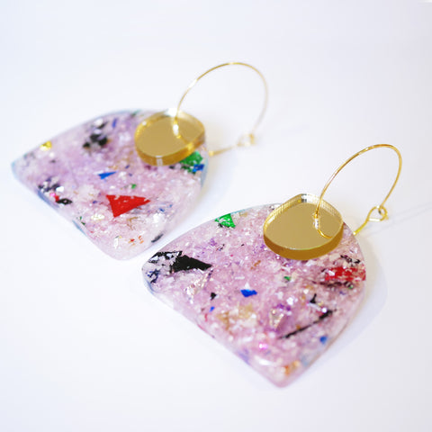 Super Sparkle Curve Earrings – Frosted Kaleidoscope